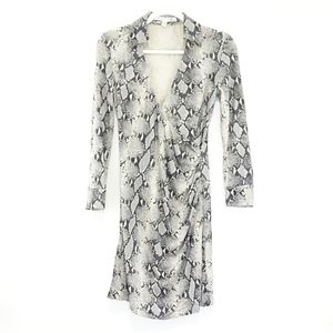 Diane Von Furstenberg Snake Print Silk Dress